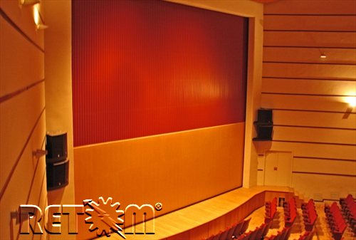 Fire curtain theater. Fire curtain theatre definition. RETOM